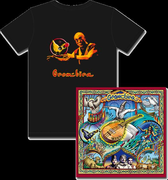 Grombira CD und T-Shirt Dalai Lama.png