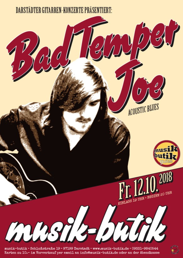Plakat A2 Bad Temper Joe